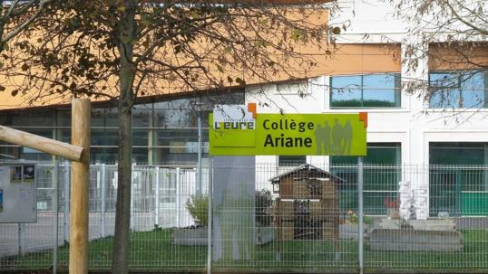 Le collège Ariane, à Vernon, a été construit sur les terrains d'une ancienne usine de piles électriques