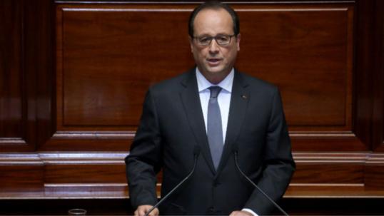 François Hollande lors de son discours devant le Congrès réuni ce lundi à Versailles (Photo@Elysée)