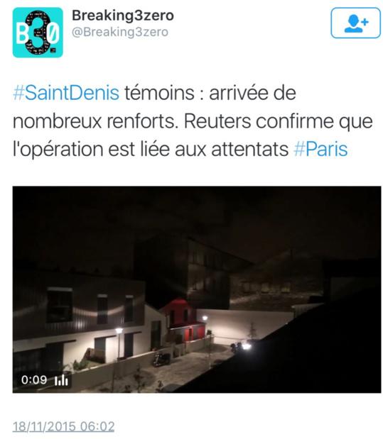 Fusillade et assaut ce matin à Saint-Denis, dans le secteur du Stade de France, près de Paris