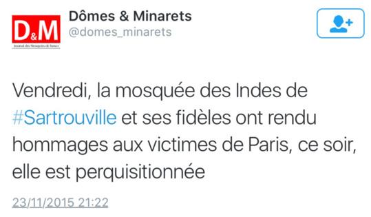 Les mosquées des Mureaux et de Sartrouville perquisitionnées ce soir dans les Yvelines