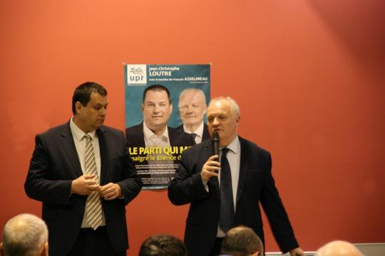 François Asselineau, président-fondateur de l'UPR, est venu soutenir Jean-Christophe Loutre, tête de liste régionale Normandie (Photo @DR)