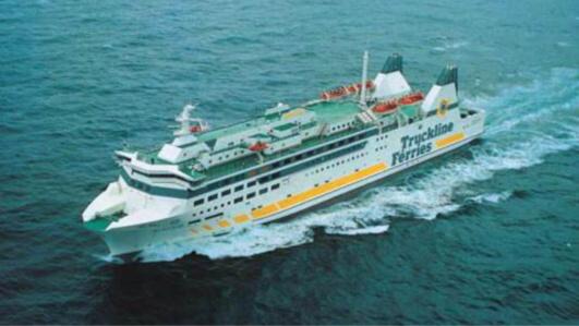 """Le """"Barfleur"""" a dû faire demi-tour dès la découverte à son bord de trois passagers clandestins qui avaient embarqué à Cherbourg pour gagner l'Angleterre (Photo@DR)"""