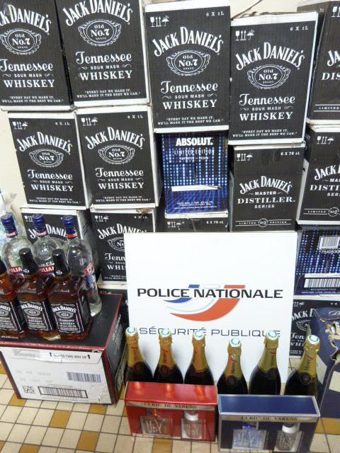 L'employé indélicat dérobait essentiellement des alcools de marques réputées (Photo@DDSP76)