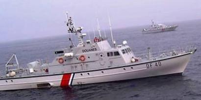 Le patrouilleur des garde-côtes de Boulogne-sur-Mer a dérouté le cargo suspect qui se trouvait en haute mer (Illustration@DR)