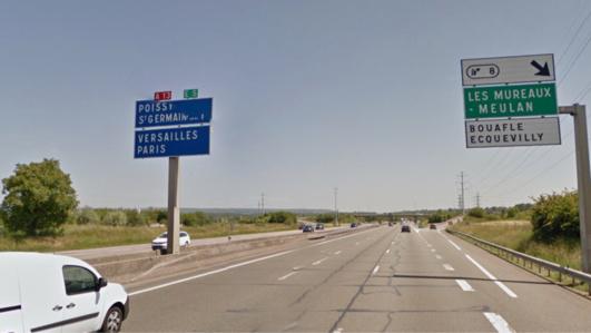 Circulation difficile sur l'A13 entre Mantes et Poissy (17 km)