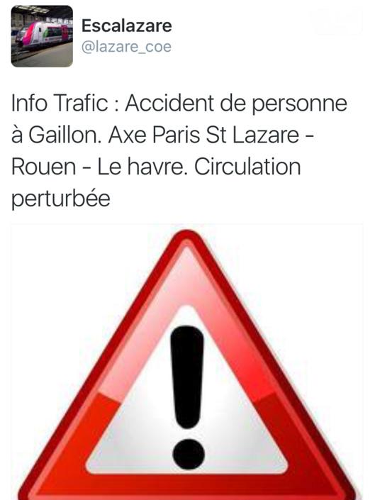 Eure : un jeune homme d'Aubevoye tué par un train ce soir en gare de Gaillon