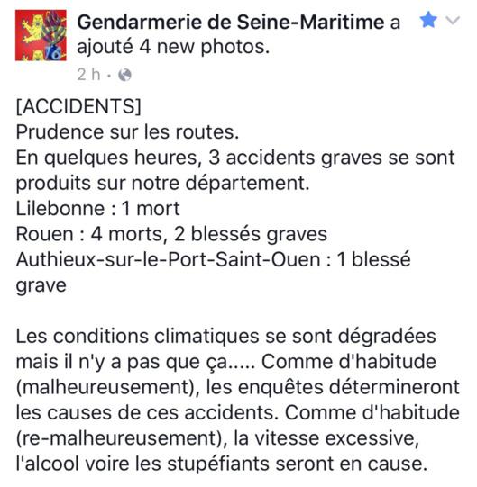 Série noire en Seine-Maritime : cinq morts et douze blessés en quelques heures sur les routes