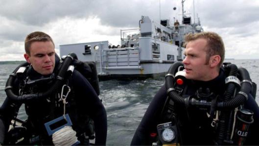Les plongeurs-démineurs lors d'une récentre intervention sur le littoral normand (@Marine nationale)