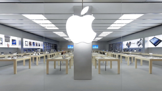 Illustration d'une boutique Apple Store