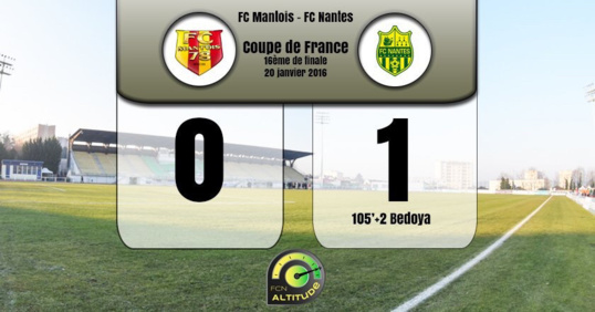 Le FC Mantois s'est incliné devant Nantes qui s'impose 1 but à 0 (Illustration@AltitudeFCN)