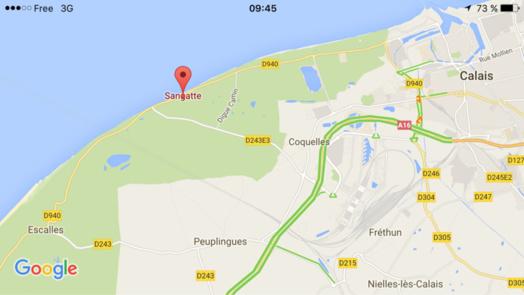 Cinq migrants en perdition sur un canot de fortune secourus ce matin au large de Sangatte