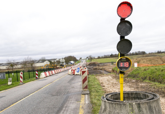 Le giratoire devrait être opérationnel au mois d'avril prochain (Photos@CD27)