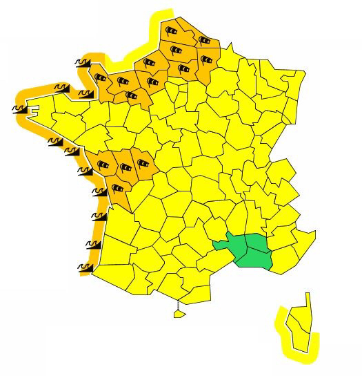 Tempête : alerte orange maintenue en Normandie
