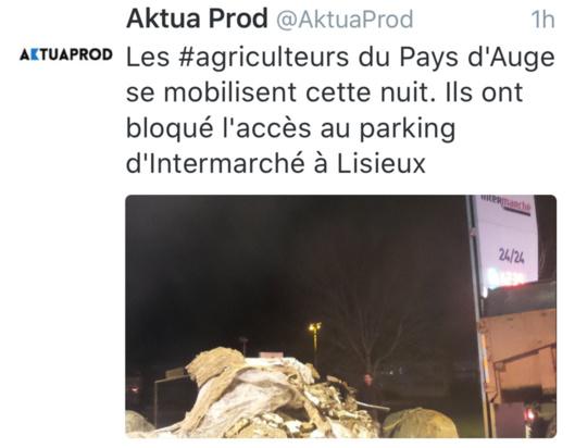 Après Caen, les agriculteurs sont passés à l'action cette nuit à Lisieux
