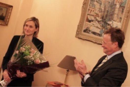 Une réception a été organisée par le préfet de l'Eure a l'occasion du départ de sa directrice de cabinet (Photo@préfecture27)