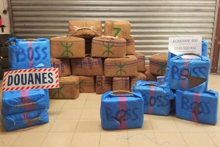 La drogue était dissimulée dans 39 valises (Photos@Douane française)