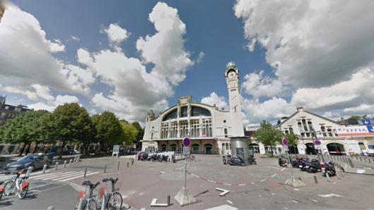 Les jeunes gens ont été interpellés place Bernard Tissot, devant la gare SNCF de Rouen : ils faisaient du rodéo avec un scooter volé (Illustration)