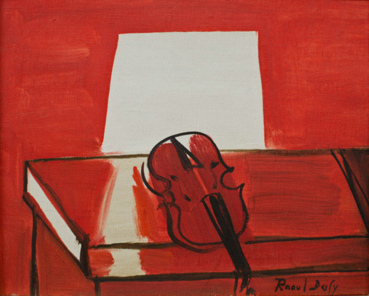 Photo : Raoul DUFY, Le Violon rouge © 2013 MuMa Le Havre / David Fogel
