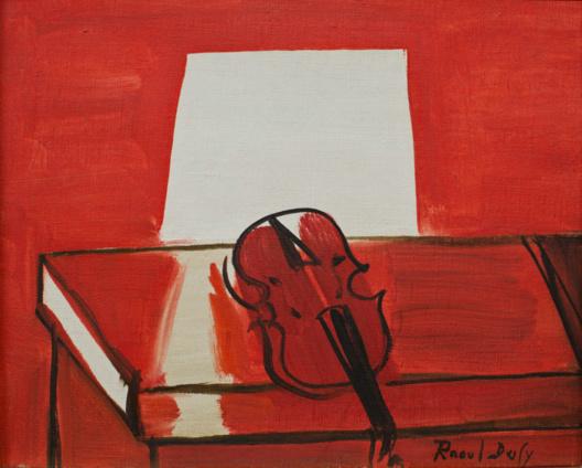 Photo : Raoul DUFY, Le Violon rouge © 2013 MuMa Le Havre / David Fogel