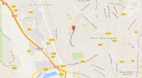 Fauchée par une voiture en traversant la rue à Mont-Saint-Aignan, l'octogénaire est décédée