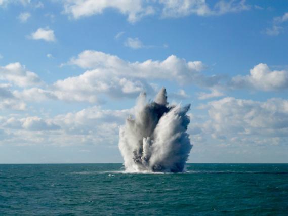 Des mines ont été détruites en mer (photo@Premar)