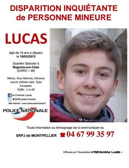 Un an que Lucas, 17 ans, a disparu : rassemblement de solidarité au Havre, ce samedi