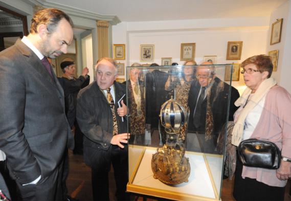 Édouard Philippe, député-maire du Havre, a inauguré l'exposition ce samedi matin (Photo@DR)