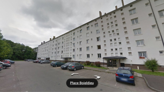 Les policiers sont intervenus dans cet immeuble pour un différend familial (@Google Maps)