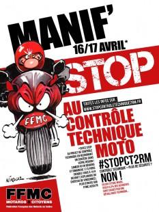 Les motards en colère manifestent en Normandie contre le contrôle technique