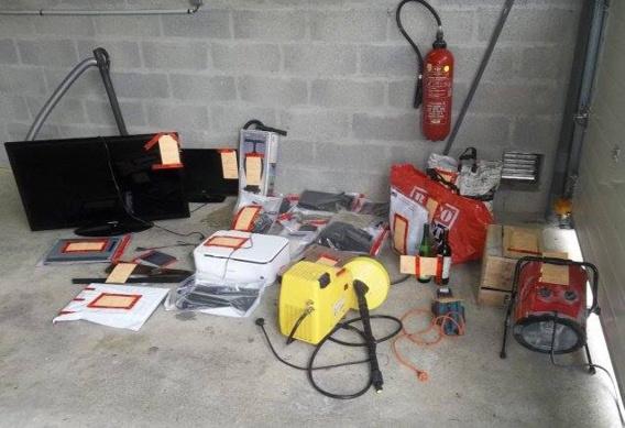 La quasi totalité des objets volés ont été retrouvés lors des perquisitions et restitués à leurs légitimes propriétaires (Photo@Gendarmerie/Facebook)