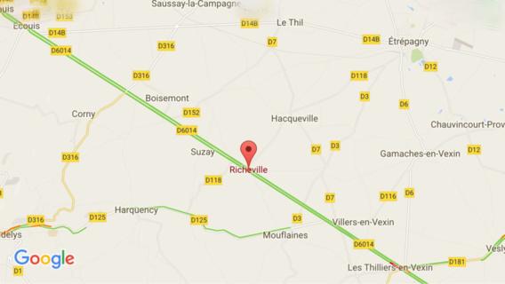 Eure : la Citroën percute l'arrière d'un camion-citerne, le conducteur dans un état grave