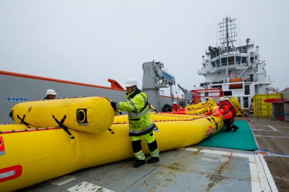 Pollution maritime : exercice grandeur nature au large du Havre, pendant deux jours