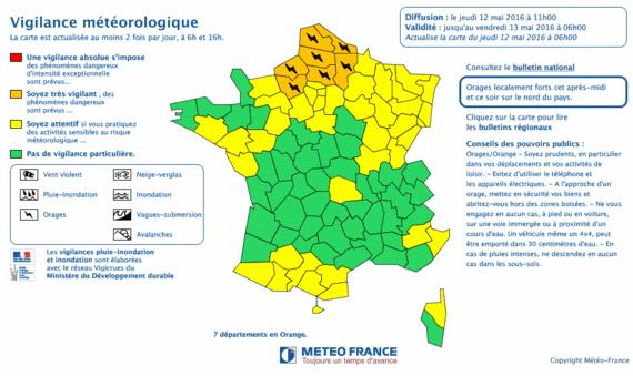Cliquez sur la carte pour l'agrandir (Document@Météo France)