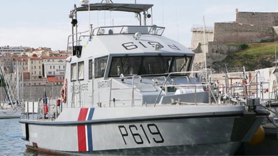 La vedette de la gendarmerie maritime (Illustration)