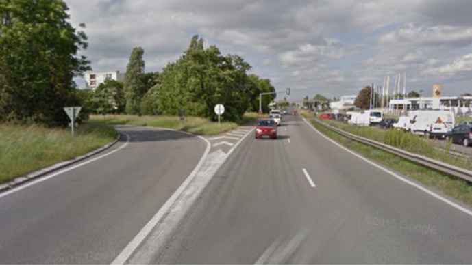 Le piéton a été fauché sur la RN184 à hauteur de l'intersection avec la RD203 (illustration)