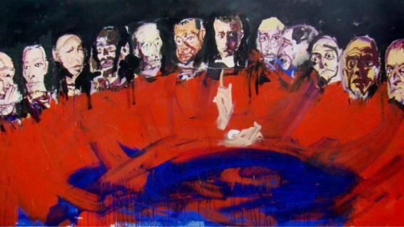 """""""Peintures sacrées, ou l'abbatiale éblouie"""" : Serge Labégorre expose ses portraits au Havre"""