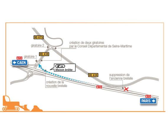 Autoroute A13 : la nouvelle bretelle de Maison Brûlée mise en service mercredi 1er juin