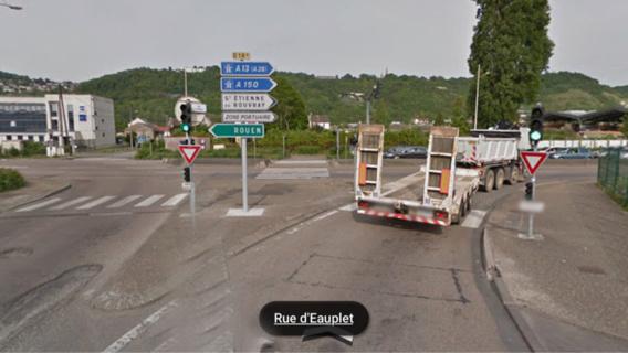 L'accident s'est produit cette nuit vers 1h30, à l'intersection du boulevard Industriel et de la rue d'Eauplet (Illustration@GoogleMaps)