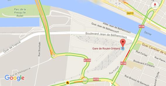 Rouen : un cheminot victime de violences après avoir forcé un barrage de manifestants