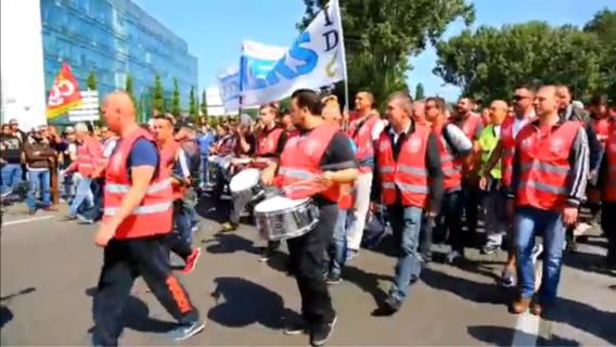 Comme lors de la manifestation du 26 mai, ils étaient encore plusieurs milliers d'opposants à la loi Travail ce matin au Havre (Photo@DR)