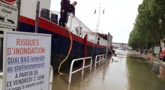La Seine pourrait atteindre autour de 6,50 m ce week-end (Photo@Département des Yvelines)