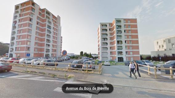 Le jeune Havrais a été abattu sur la voie publique, dans son quartier du Bois de Bléville (Illustration@Google Maps)
