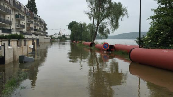 Quai de Seine à Vernon, la seine a débordé (Photo@infonormandie)