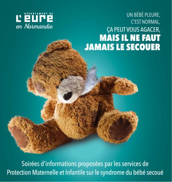 Eure : le syndrome du bébé secoué expliqué en trois réunions d'information ouvertes à tous