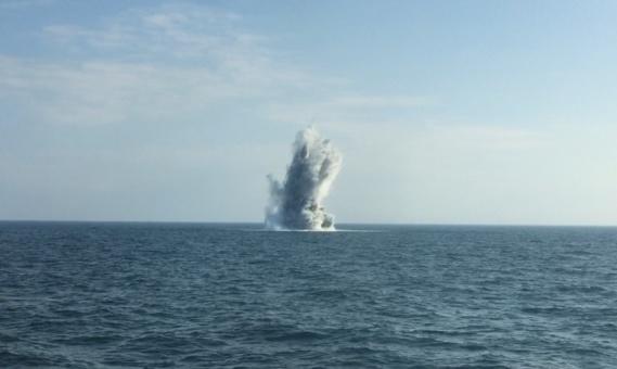 Les bombes ont été détruites au large de la Seine-Maritime (Photo@Préfecture maritime)
