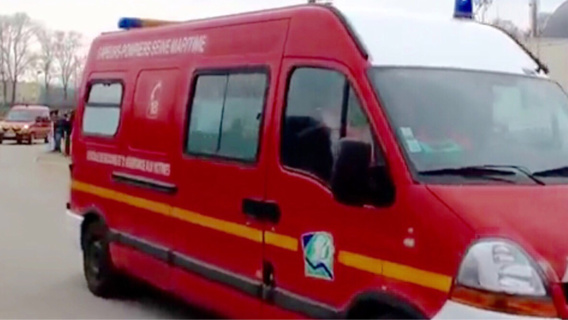 La victime a été transportée par les pompiers au CHU de Rouen (Illustration)