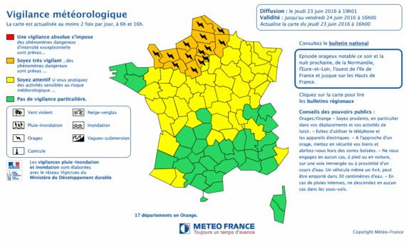 Orages et rafales de vent : la vigilance orange maintenue en Normandie et en Île-de-France