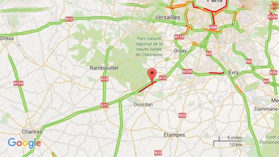 Accident de poids-lourds sur l'A10 dans l'Essonne : le trafic toujours fortement perturbé ce soir