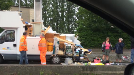 Le camping-car a été sérieusement endommagé (Photo@Christophe pour infonormandie)