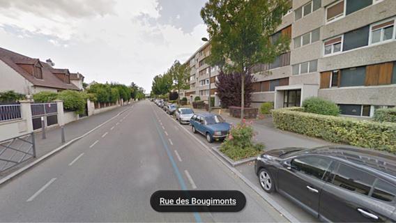 La jeune femme attendait sur un trottoir lorsqu'elle a été percutée violemment par la voiture du chauffard (illustration@Google Maps)